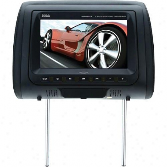 "Universal Car Headrest With 8"" Widescreen Tft Monitor Dvd Player"