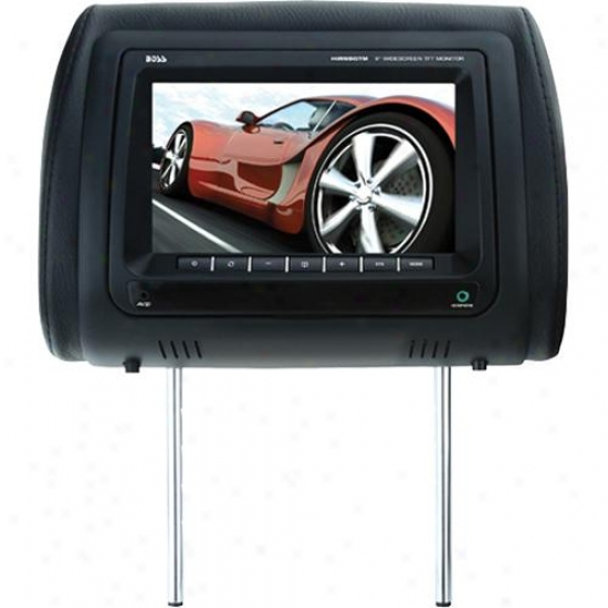 "Universal Car Headrest With 9"" Widescreen Tft Video Monitor"