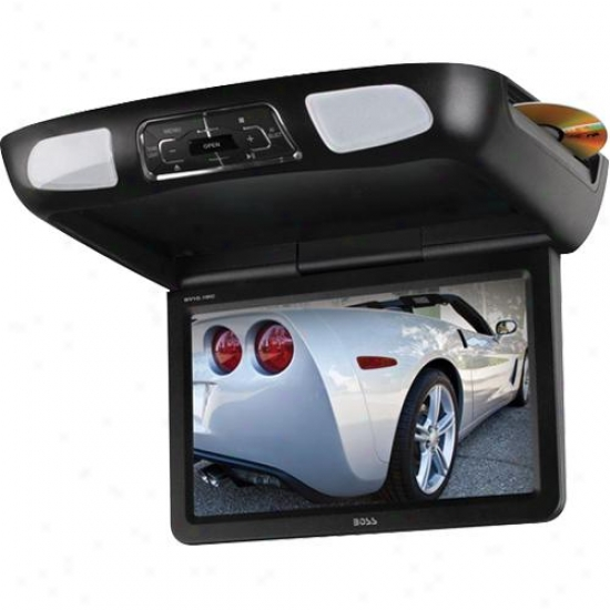 Vehicle 10.1-inch Flip Down Tft Monitor With Built-in Dvd Player