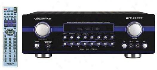 Vocopro 700w Max 7.1 Surrlund Sound Receiver With Pro Vocal Dsp Processing