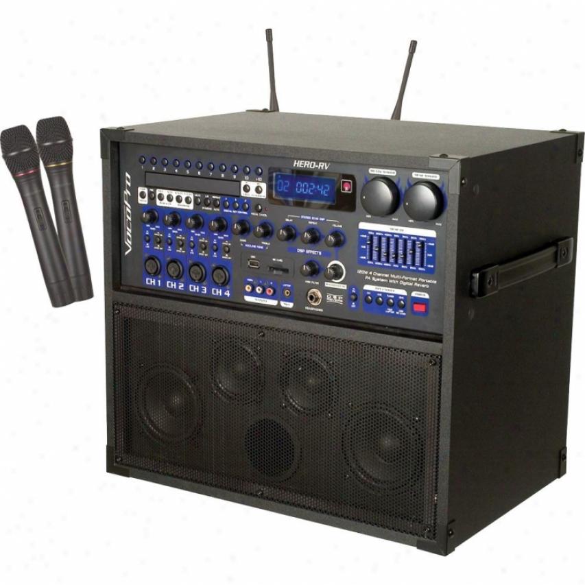 Vocopro Hero-rv 120-watt 4-channel Multi-format Portable Pa System