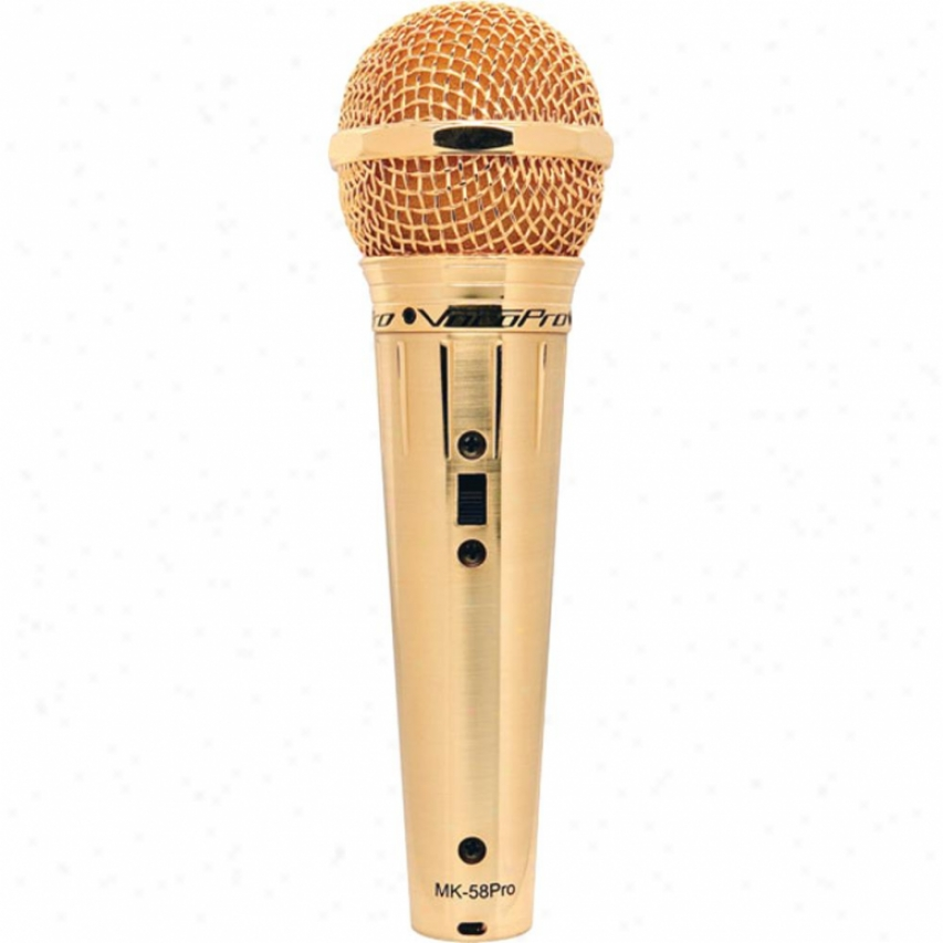 Vocopro Mk-58 Pro Karaoke Vocal Corded Mic - Gold Finish