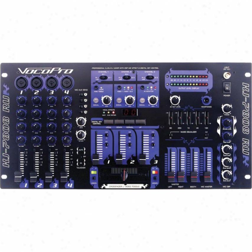 Vocopro Professional 7-channel Kj/dj/vj Mixer With Karaoke