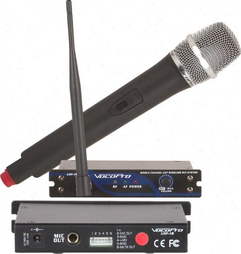 Vocopro Single Water-course Uhf Wireless Mic System