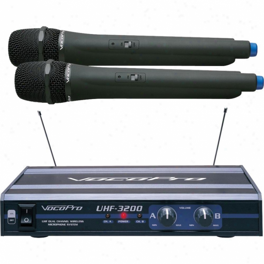 Vocopro Uhf-dual Chahnel Wireless Microphone System - Uhf-3200