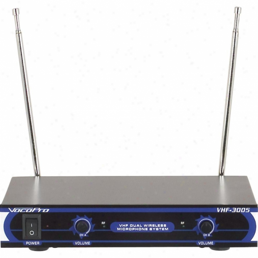 Vocopo Vhf-3005-4 Dual Passage Vhf Wireless Microphone System