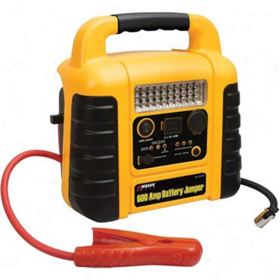 Wagan Tech 600 Amp Battery Auto/boat Jumper With Air Compressor