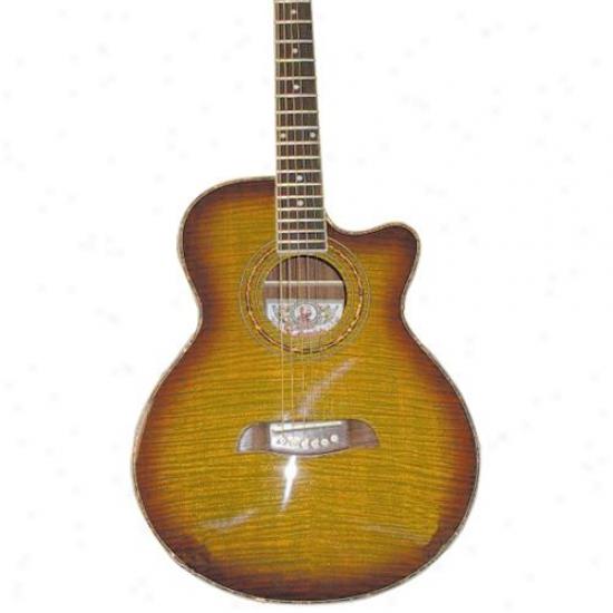 Washburn Og10cefys Oscar Schmidt Concert Size Cutaway Guitar