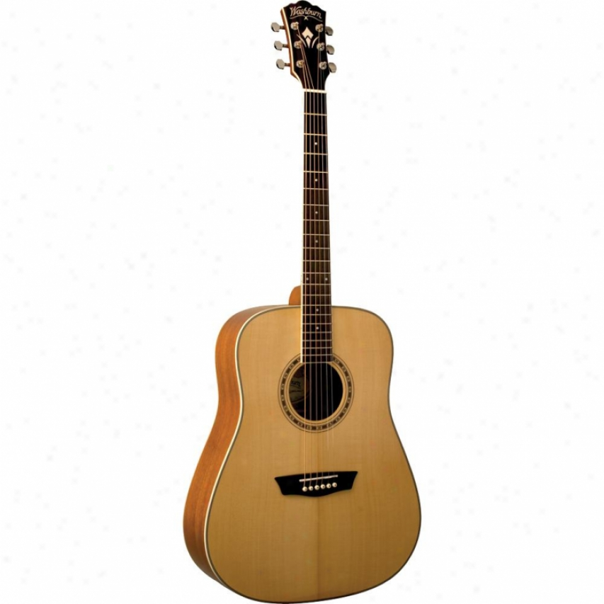 Washburn Open Box Wd10s Dreadnaught cAoustic Guitar - Natural