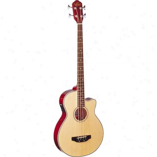 Washburn Oscar Schmidt Ob100n Acoustic Electric Bass Guitar