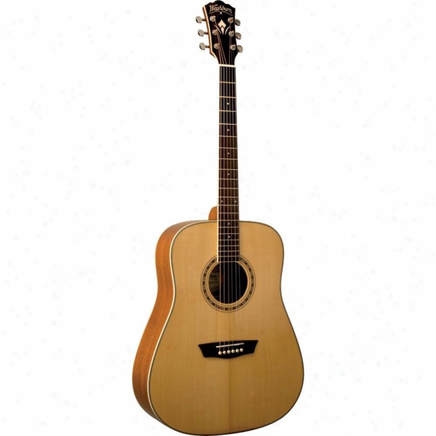 Washburn Wd10s Dreadnaught Acoustic Guitar - Natural