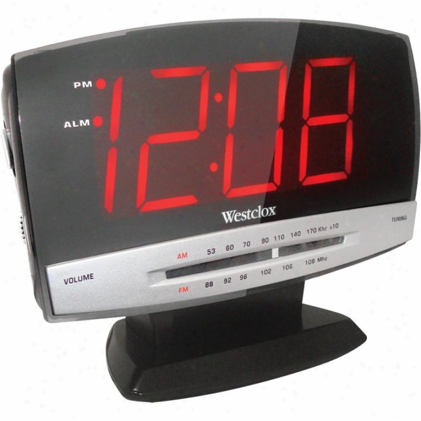 Westclox Large Screen Alarm Clock Radio 80187
