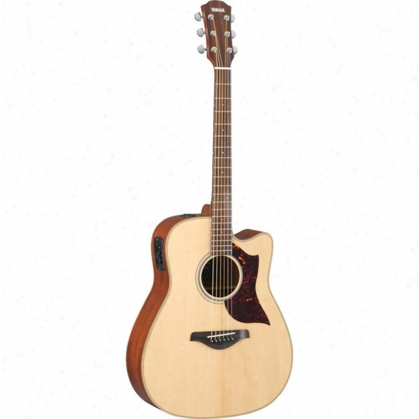 aYmaha A1-mhc Folk Acoustic Electric Guitar Natural Finish