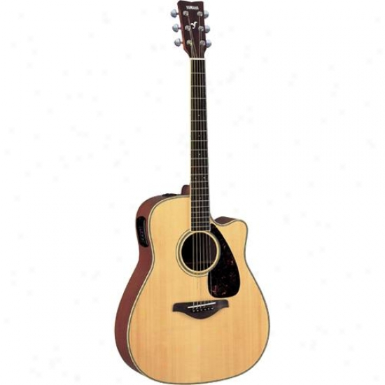 Yamaha Fgx720sca Acoustic Electric Guuitar Fg Series Cutaway - Natural Finish