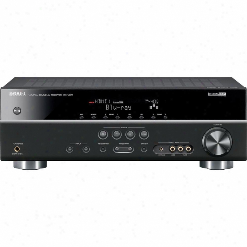 Yamaha Open Box Rx-v371 5.1-channel Home Theater Receiver - Black