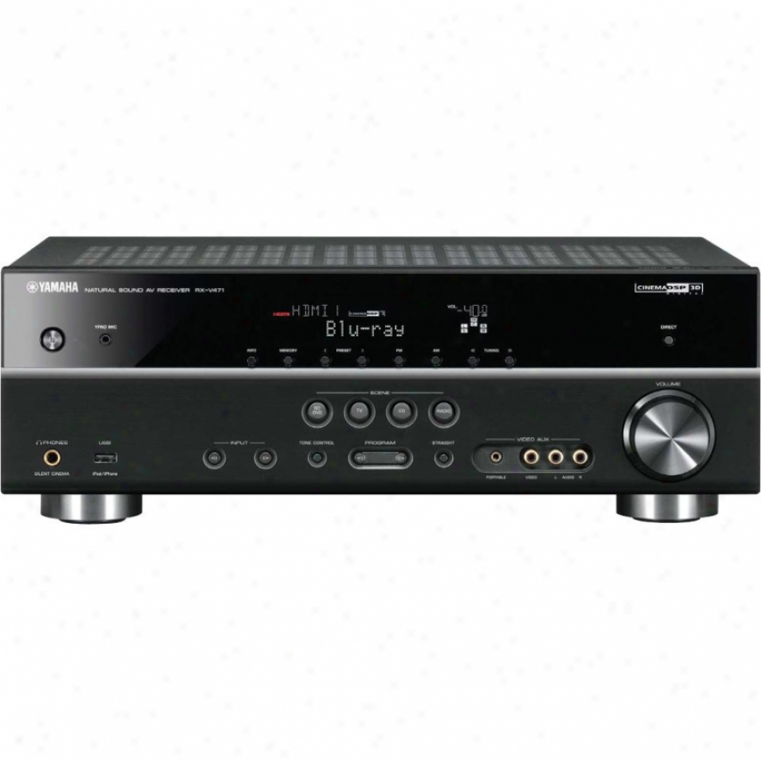 Yamaha Open Box Rx-v471 5.1-channel Home Theater Receiver - Black