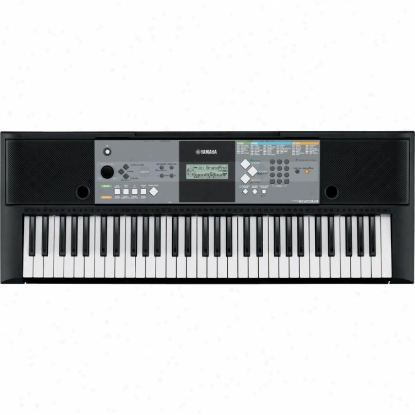 Yamaha Psr-e233 61-key Keyboard W/ 385 Natural Sound Voices - Black