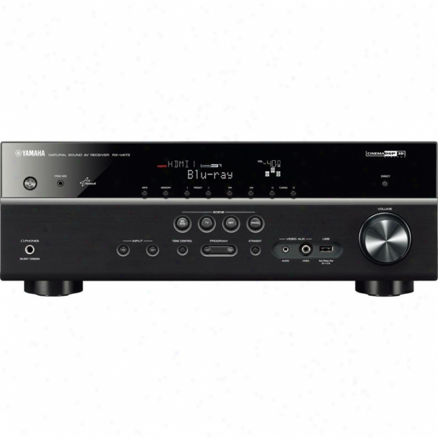 Yamaha Rx-v473 5.1-channel Domicile Theater Receiver - Black