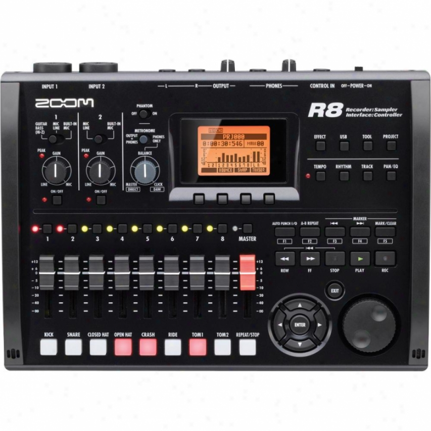 Zoom R8 2-track Digital Recorder/usb Interface W/ 8-track Playback