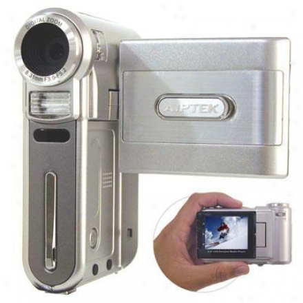 Aiptek Media Player-cideo Recorder Palm Sized 2gb Max Memory