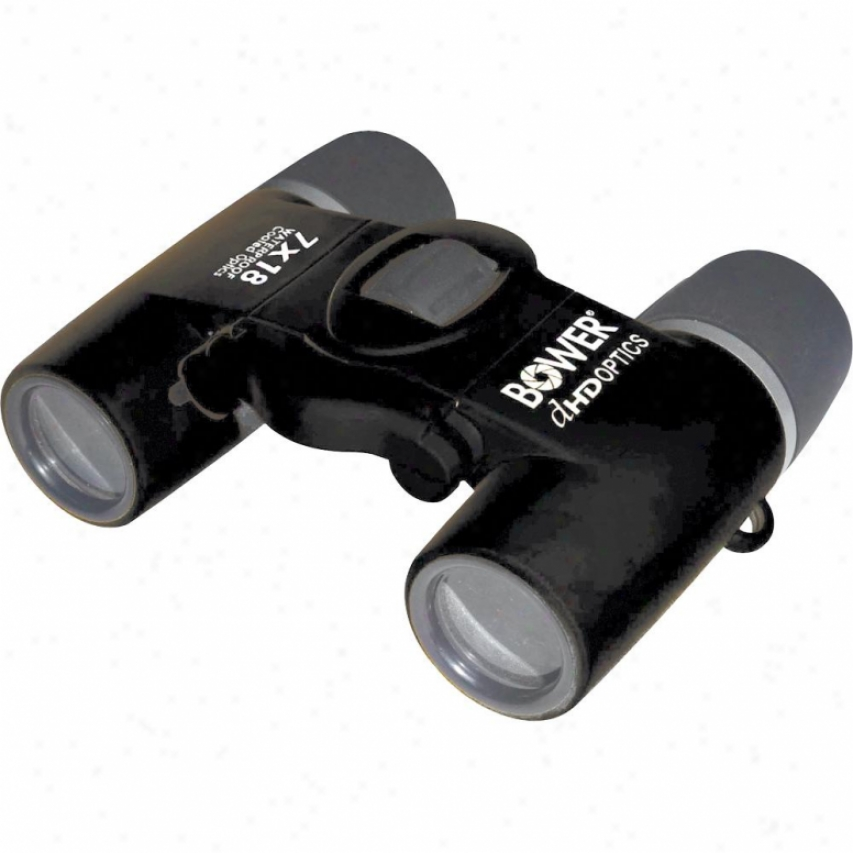 Bower Compact 7x18 Waterproof Binoculars Bri718- Black