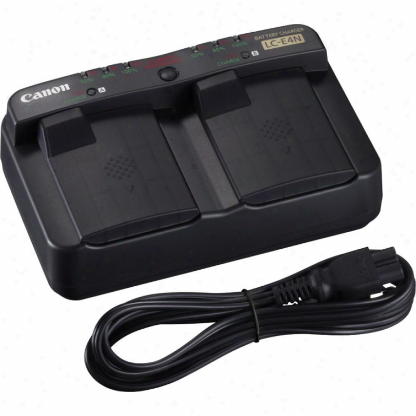 Canon Eos 1d Mark X Double Battery Charger With Ac Adapter Lc-e4n