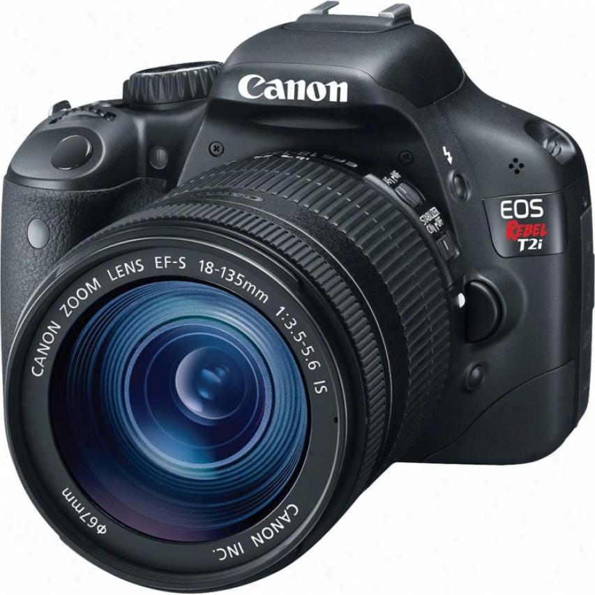 Canon Eos Rebel T2i 18-megapixel Digital Slr Camera Kit 1 - Black