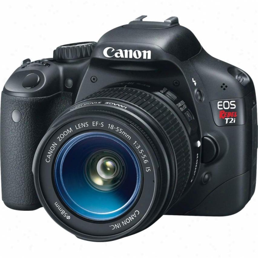 Canon Eos Rebel T2i 18-megapixel Digital Slr Camera Kit 2 - Dark