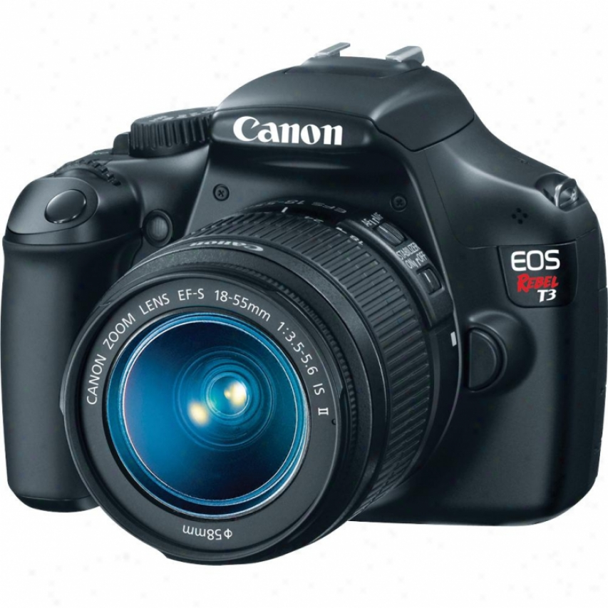 Canon Eos Rebel T3 12 Megapixel Slr Digital Camera Kit - Black