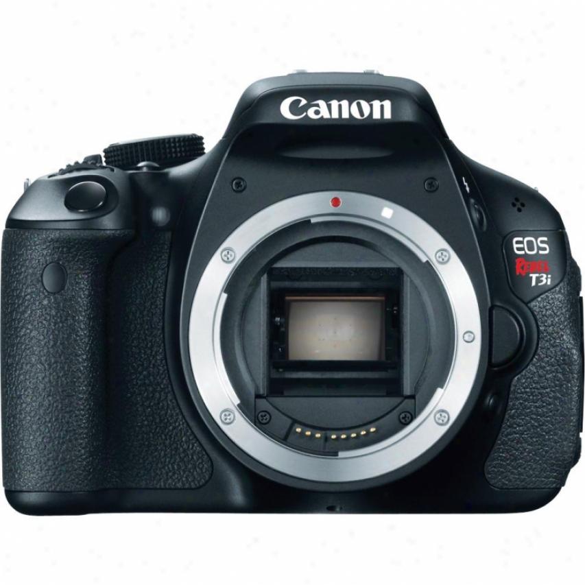 Canon Eos Rebel T3i 18 Megapixel Slr Digital Camra Body - Black