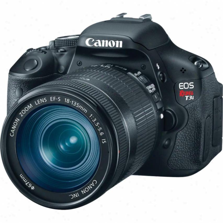 Canon Eos Rebel T3i 18 Megapixel Slr Digital Camera Kit - Black