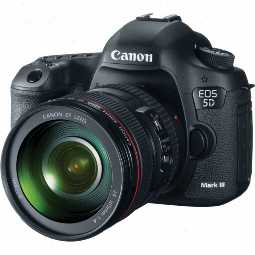 Canon Eos5d Mark Iii 22 Megapixel Digital Slr Camera With Lens Kit