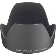 Canon Ew-83j Lens Hood For Ef-s 17-55mm F/2.8 Is Uem Lens