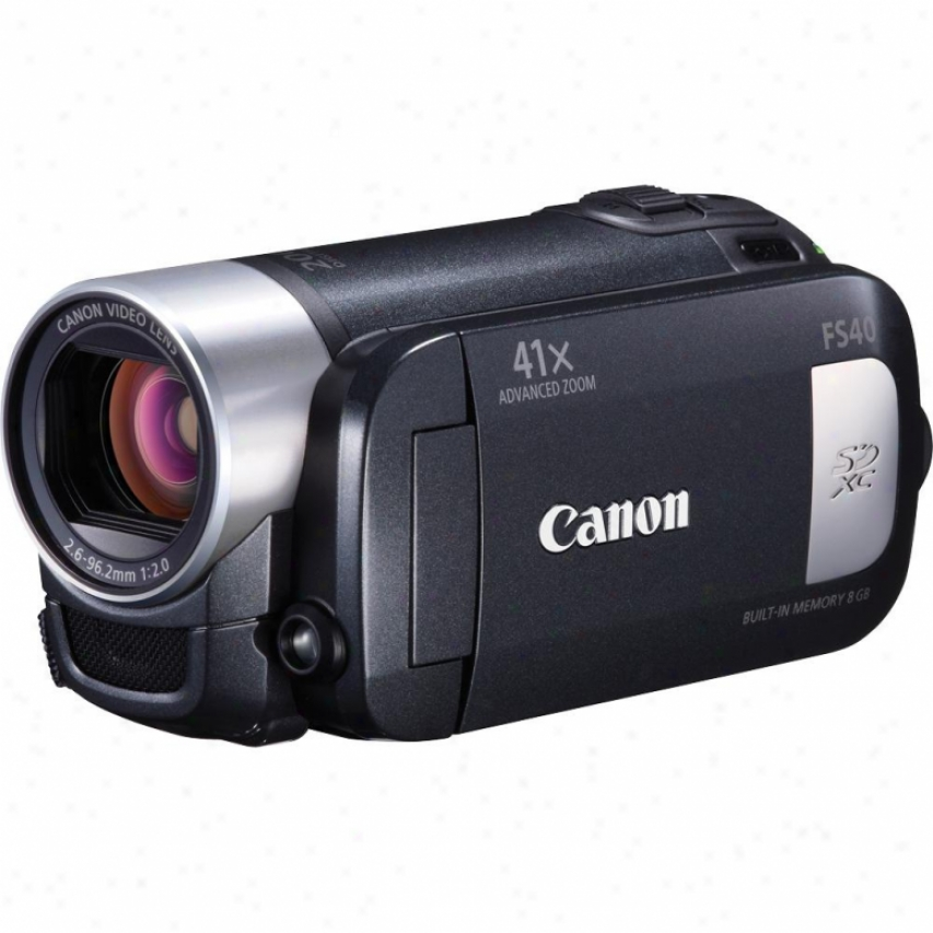 Canon Fs40 Standard Definition 8gb Flash Memory Camcorder