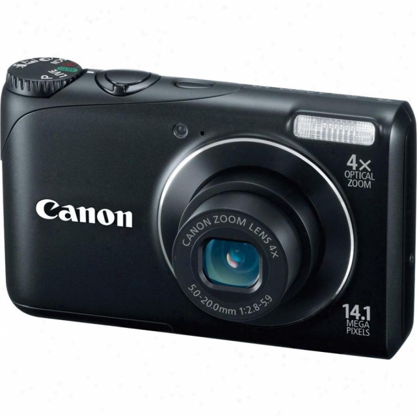 Canon Powershot A2200 14 Megapixel Digital Camera - Black