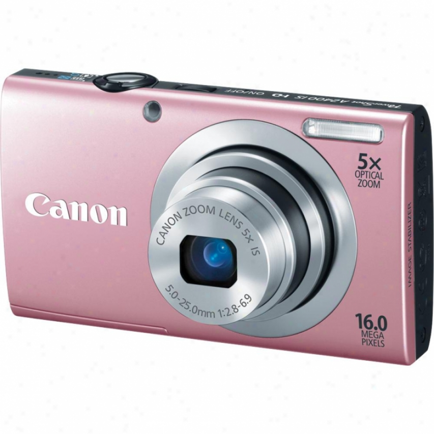 Canon Powershot A2400 Is 16 Megapixel Digital Camera - Pink