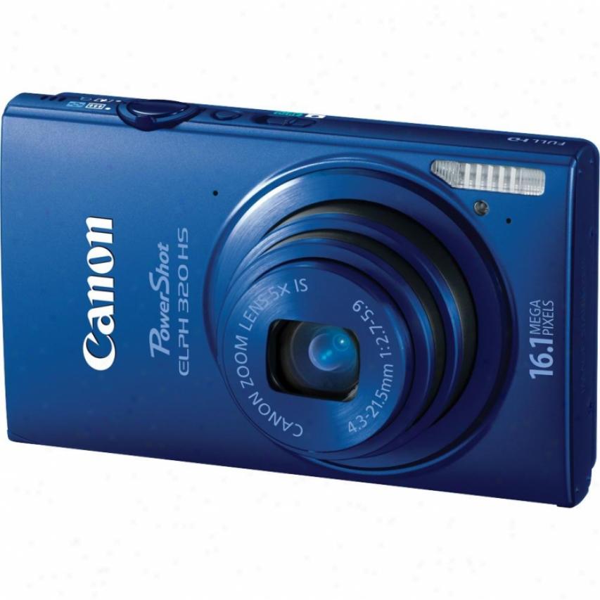 Canon Powershot Elph 320 Hs 16 Megapixel Digital Camera - Blue