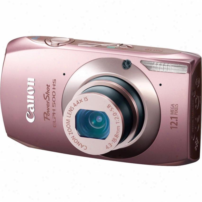 Canon Powershot Elph 500 Hs 12 Megapixel Digital Camera - Pink