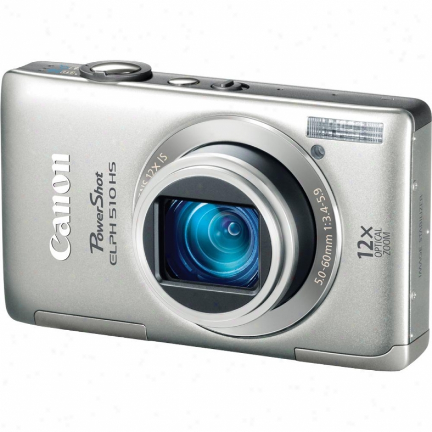 Canon Powershot Elph 510 Hs 12 Megapixel Ditital Camera - Silver