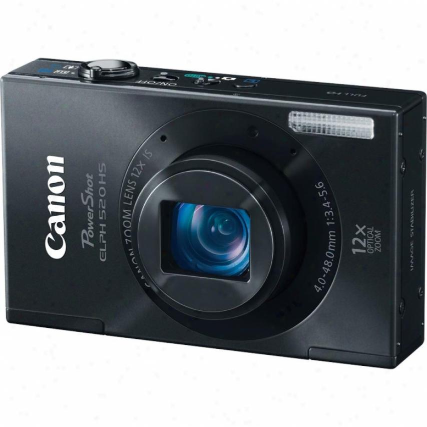 Canob Powershot Elph 520 Hs 10 Megapixel Digital Camera - Black