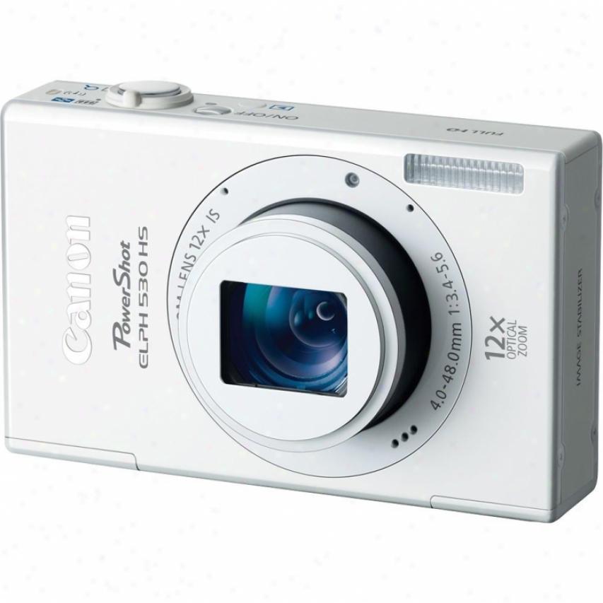 Canon Powershot Elph 530 Hs 10 Megapixel Digital Camera - White