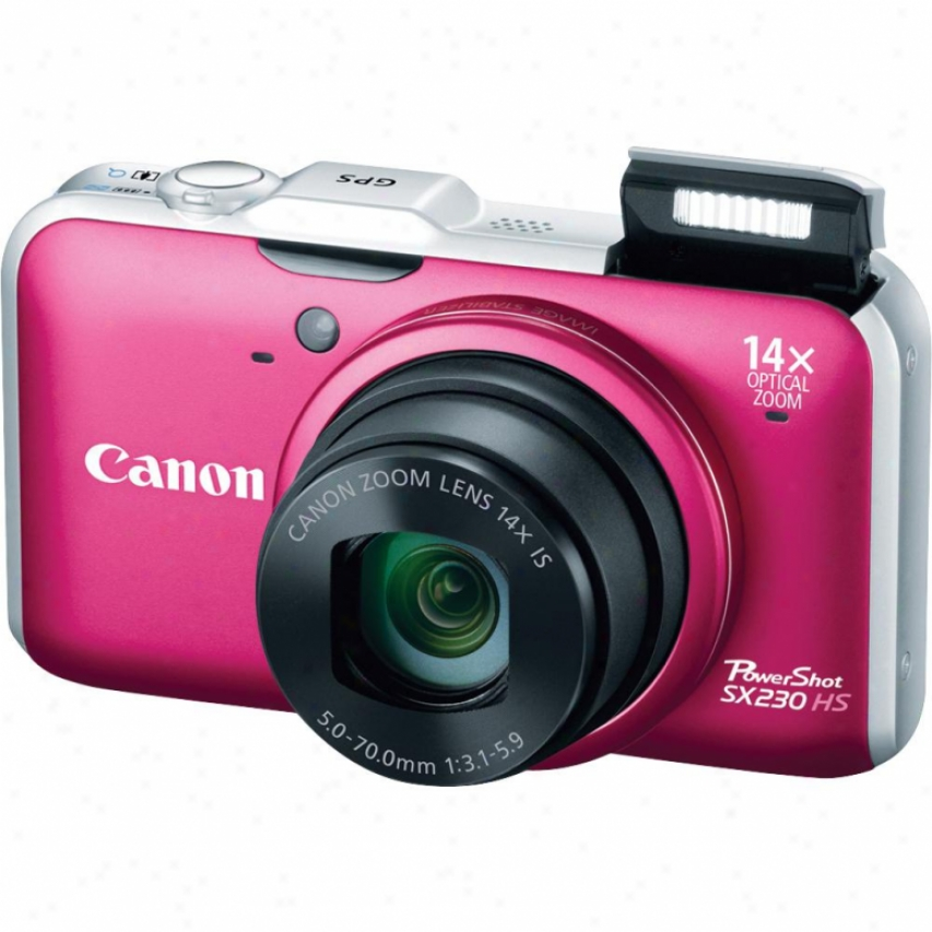 Canon Powershot Sx230 Hs 12 Megapixel Digital Camera - Red