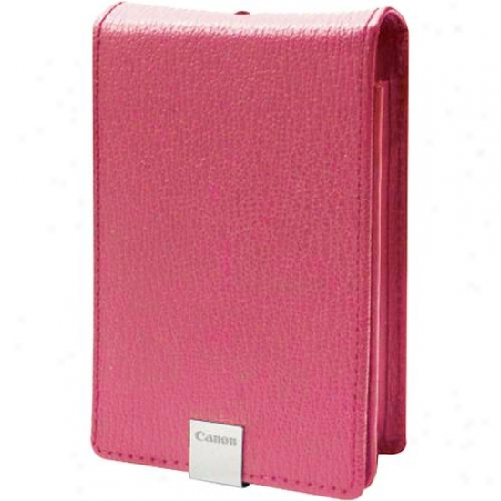 Canon Psc1000 Deluxe Leather Camera Case For Powershot Sd1000 - Pink