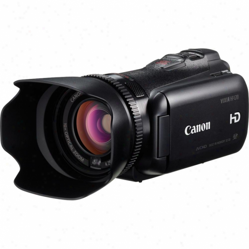 Canon Vixia Hf G10 High Definition 32gb Dual Flash Mmory Camcorder