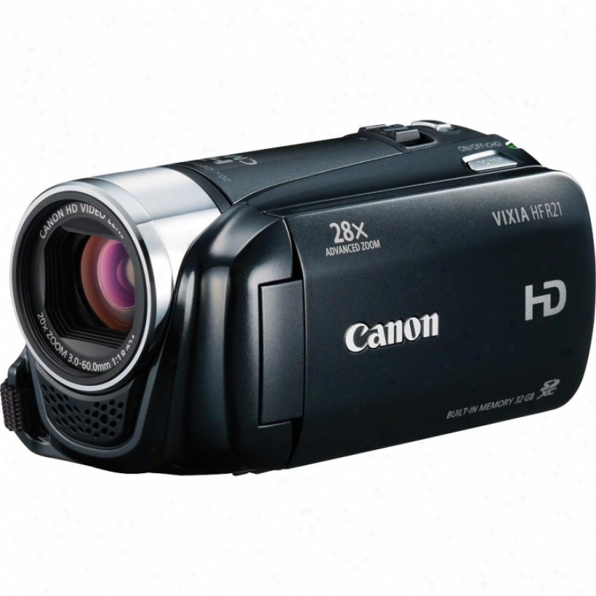 Canon Vizia Hf R21 High Definition 32gb Dual Flash Recollection Camcorder