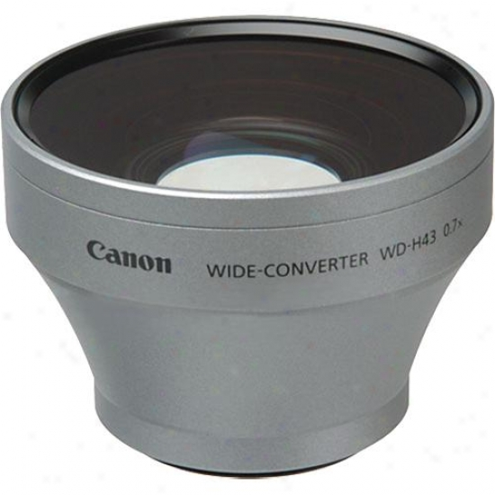 Canon Wd-b43 0.7x Hd-compatible Wide Angle Converter For Hv20 Camcorder
