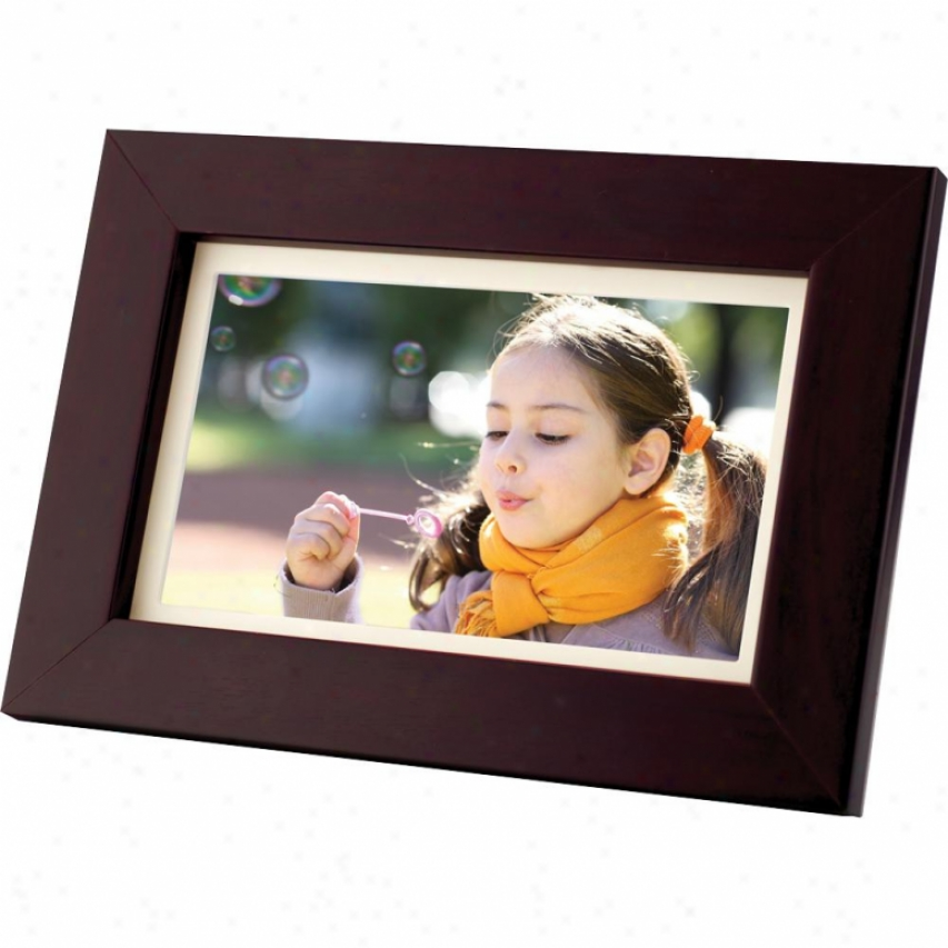 "Coby Dp700 7"" Widescreen Digital Photo Frame - Wood"