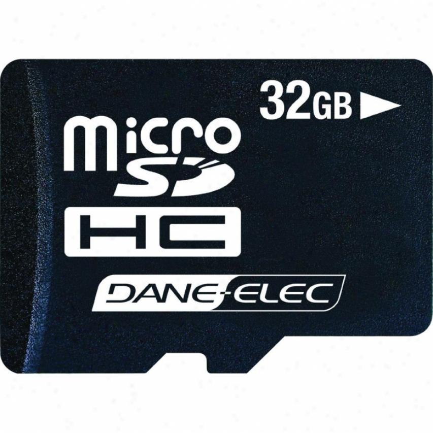 Dane-elec 32 Gb Micro Sdhc Memory Card - Class 2 Da-2in1-32g-r