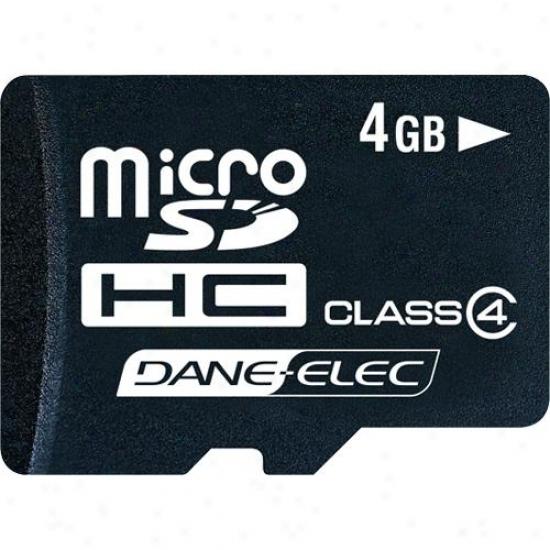Dane-elec 4gb Micro Sdhc Memory Card