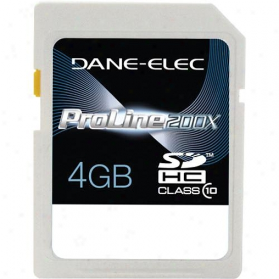 Dane-elec 4gb Sdhc Class 10 Memory Carr Da-sd1004g-c